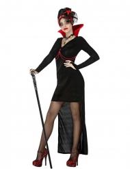 Gothic-Vampirin Damenkostüm für Halloween schwarz-rot