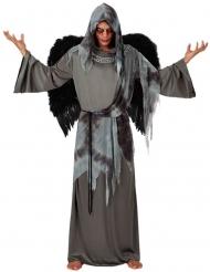 Schauriges Todesengel-Kostüm für Herren Halloween-Verkleidung grau