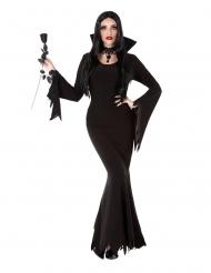 Verführerische Gothic-Dame Halloween-Kostüm schwarz