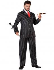 Gangster-Kostüm 20er-Jahre Gentleman-Verkleidung schwarz-weiss-rot