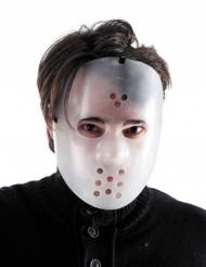 Killer Hockey-Maske Halloween-Zubehör für Erwachsene weiss