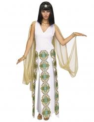 Ägyptisches Königinnen-Kostüm mit Schleiern weiss-gold