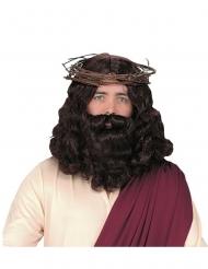 Jesus-Perücke Kostüm-Accessoire für Weihnachten braun