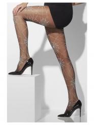 Strumpfhose mit Spinnennetz Kostüm-Accessoire für Frauen Einheitsgröße