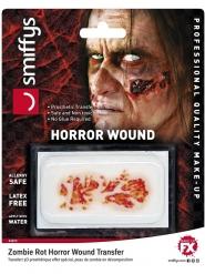 Zombie-Wunde für Halloween Make-up-Zubehör rot
