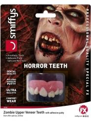 Zombie-Zähne Halloween Kostüm-Accessoire für Erwachsene