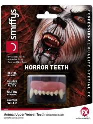 Tier-Zähne Halloween Kostüm-Accessoire für Erwachsene