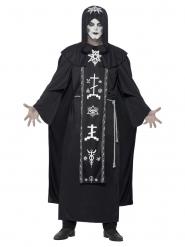 Satanisten Kostüm Skelett für Erwachsene Halloween
