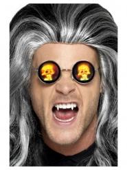 Totenkopf-Brille holografisch Kostüm-Accessoire