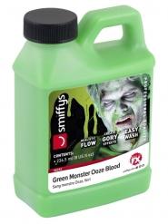 Kanister mit Kunstblut Zubehör für Halloween Monster-grün 236,5ml