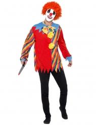 Psychischer Killer-Clown Kostüm-Set für Halloween 3-teilig bunt