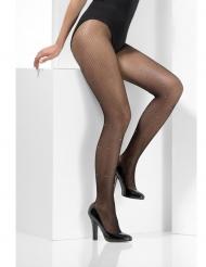 Netz-Strumpfhose mit Glitzer-Steinen Kostüm-Zubehör schwarz