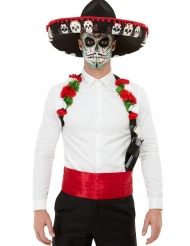 Dia de los Muertos Kostüm-Accessoire-Set 3-teilig bunt