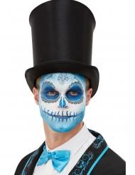 Tag der Toten-Schmink-Set für Halloween blau