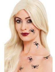 3D-Spinnen-Aufkleber für die Haut Halloween-Tattoos 6 Stück schwarz