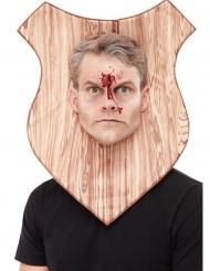 Wandertrophäe-Maske für Erwachsene Halloween-Zubehör braun