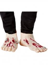 Zombie-Überschuhe aus Latex Kostüm-Accessoire für Erwachsene