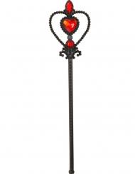 Dunkle Königin Zauberstab für Kinder Kostüm-Accessoire schwarz-rot