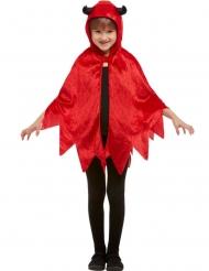 Teuflischer-Umhang für Kinder Halloween-Zubehör rot-schwarz