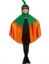 Kürbis-Umhang für Kinder Halloween-Zubehör für Kinder orange-grün