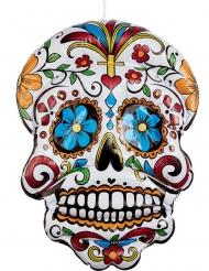 Sugar Skull aufblasbare Raumdekoration Dia de los muertos bunt 100cm