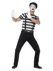 Mimen-Herrenkostüm für Halloween schwarz-weiss