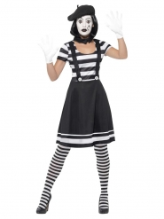 Pantomime-Kostüm mit Make-up für Damen