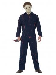 Michael Myers-Herrenkostüm für Halloween Serienmörder blau-weiss