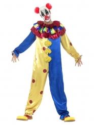 Psychopathisches Horrorclown-Kostüm für Halloween bunt