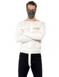 Kannibalen-Kostüm für Erwachsene Halloween-Verkleidung weiss-grau