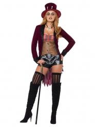 Voodoo-Kostüm Zirkus-Direktorin Halloween-Damenkostüm bunt