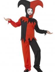 Psycho-Harlekin Kinderkostüm für Halloween schwarz-rot