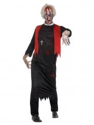 Zombie-Priester Herrenkostüm für Halloween schwarz-rot