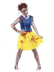 Zombie-Märchenfigur Damenkostüm für Halloween gelb-blau-rot