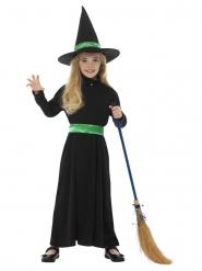 Kleine Hexe Halloween-Kostüm für Mädchen schwarz-grün