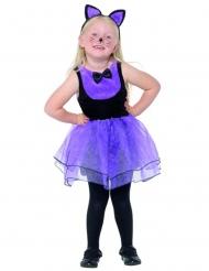 Halloween Katzen-Kostüm für Kinder schwarz-lila