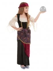 Wahrsagerin-Kostüm für Mädchen beige-rot