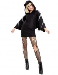 Sexy Fledermaus-Kostüm für Damen Halloween-Verkleidung schwarz-grau