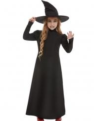 Dunkle Hexe Kinderkostüm für Halloween schwarz