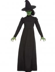 Traditionelles Hexen-Kostüm für Damen Halloween schwarz