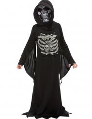 Kleiner Sensenmann Kinderkostüm für Halloween schwarz-grau