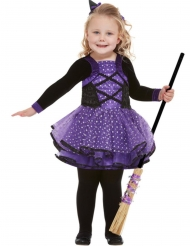 Freche Hexe-Kinderkostüm für Halloween schwarz-lila