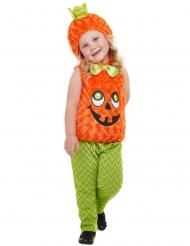 Lustiges Kürbis-Kostüm für Kinder Halloween-Verkleidung orange-grün