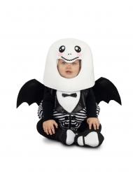 Geist-Kostüm für Babys schwarz-weiss Halloween