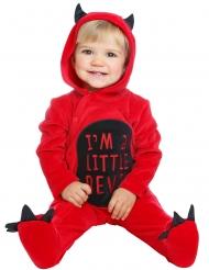 Kleiner Teufel Babykostüm für Halloween rot-schwarz