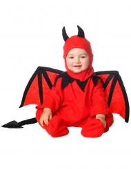 Teuflisches Baby-Kostüm für Halloween Dämon rot-schwarz