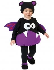 Süßes Fledermaus-Kostüm für Kleinkinder Halloween lila-schwarz