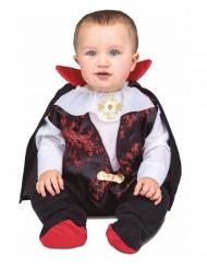Süßes Vampirkostüm für Babys Halloween-Kostüm schwarz-weiss-rot