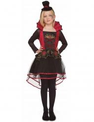 Vampirkostüm für Mädchen Halloween-Verkleidung schwarz-rot