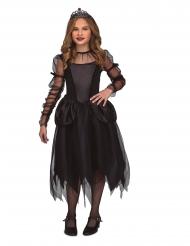 Schöne Gothic-Prinzessin Halloween-Mädchenkostüm schwarz